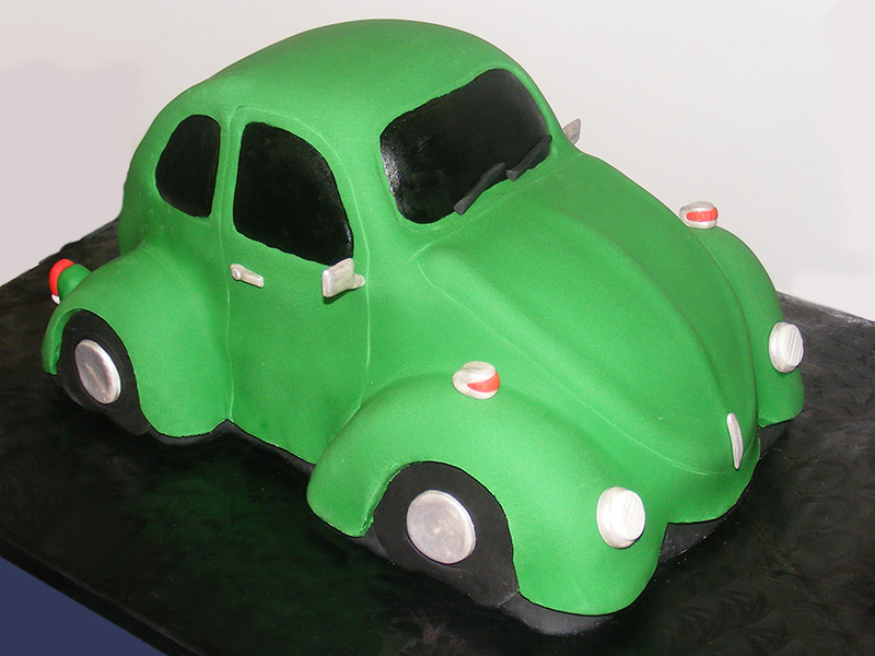 Finished Volkswagen Bug Cake